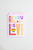 Valley Cruise Press - All You Need Is Love - Enamel Pin + Greeting Card