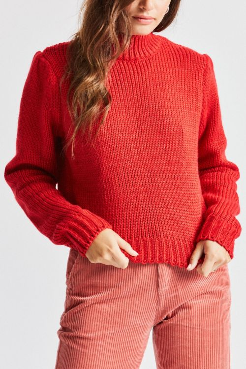 Brixton - Ashbery Sweater - Red - Galz