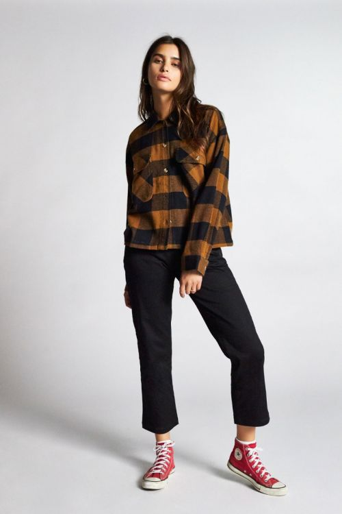 Brixton - Astoria L/S Flannel - Washed Copper - Galz