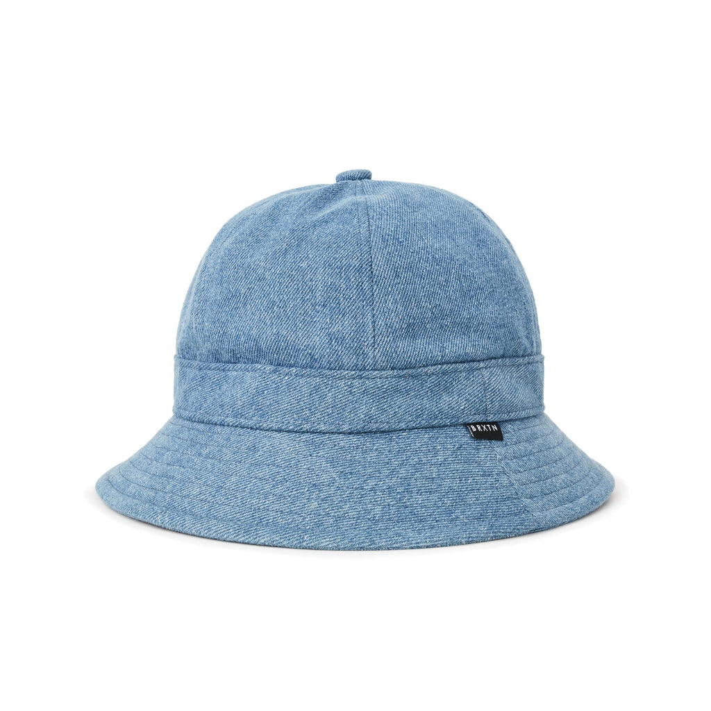 Brixton - Banks II Short Brim Bucket Hat - Blue Washed Denim
