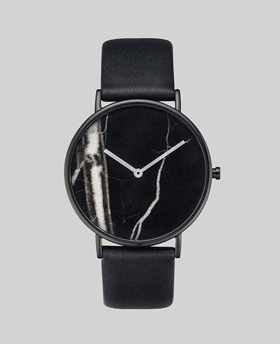 The Horse - Black Stone / Black Leather - Watch