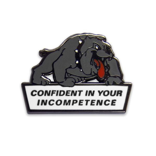 No Fun Press - Confident Dog, Lapel pin