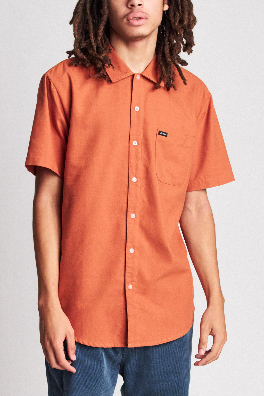 Brixton - Charter Oxford Short Sleeve Shirt - Henna - Guys