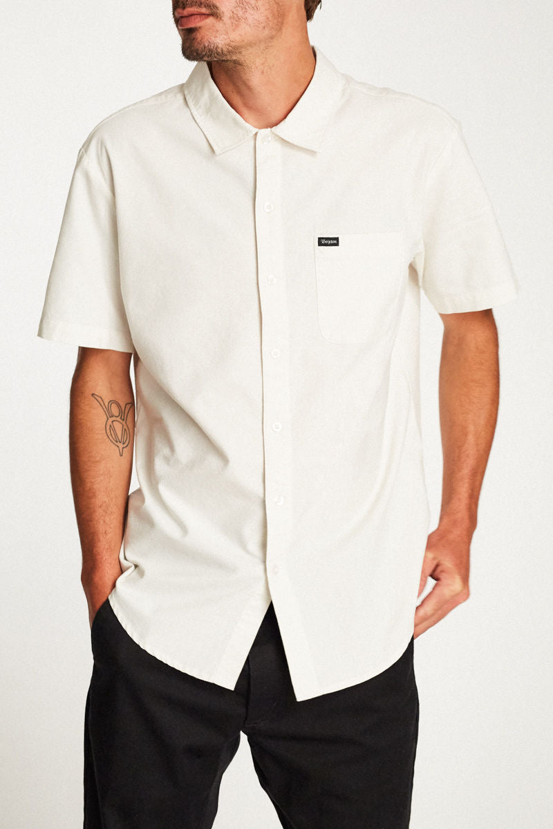 Brixton - Charter Short Sleeve Shirt - Off White - Guys