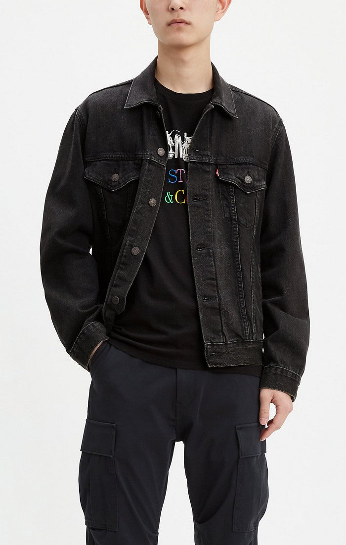 Levi's - Virgil Vintage Fit Trucker -  Jean Jacket  - Faded Black - Guyz