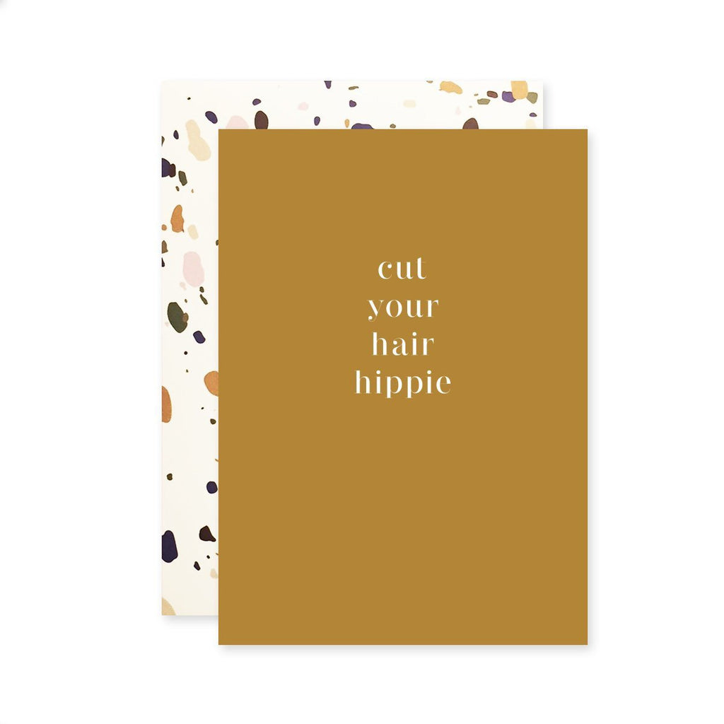 Hippie Hair - Greeting Card