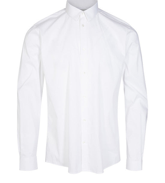 Minimum - Topper L/S Shirt White - Guys