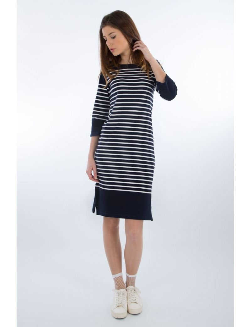 Armor Lux - 3/4 Length Striped Dress - Gals