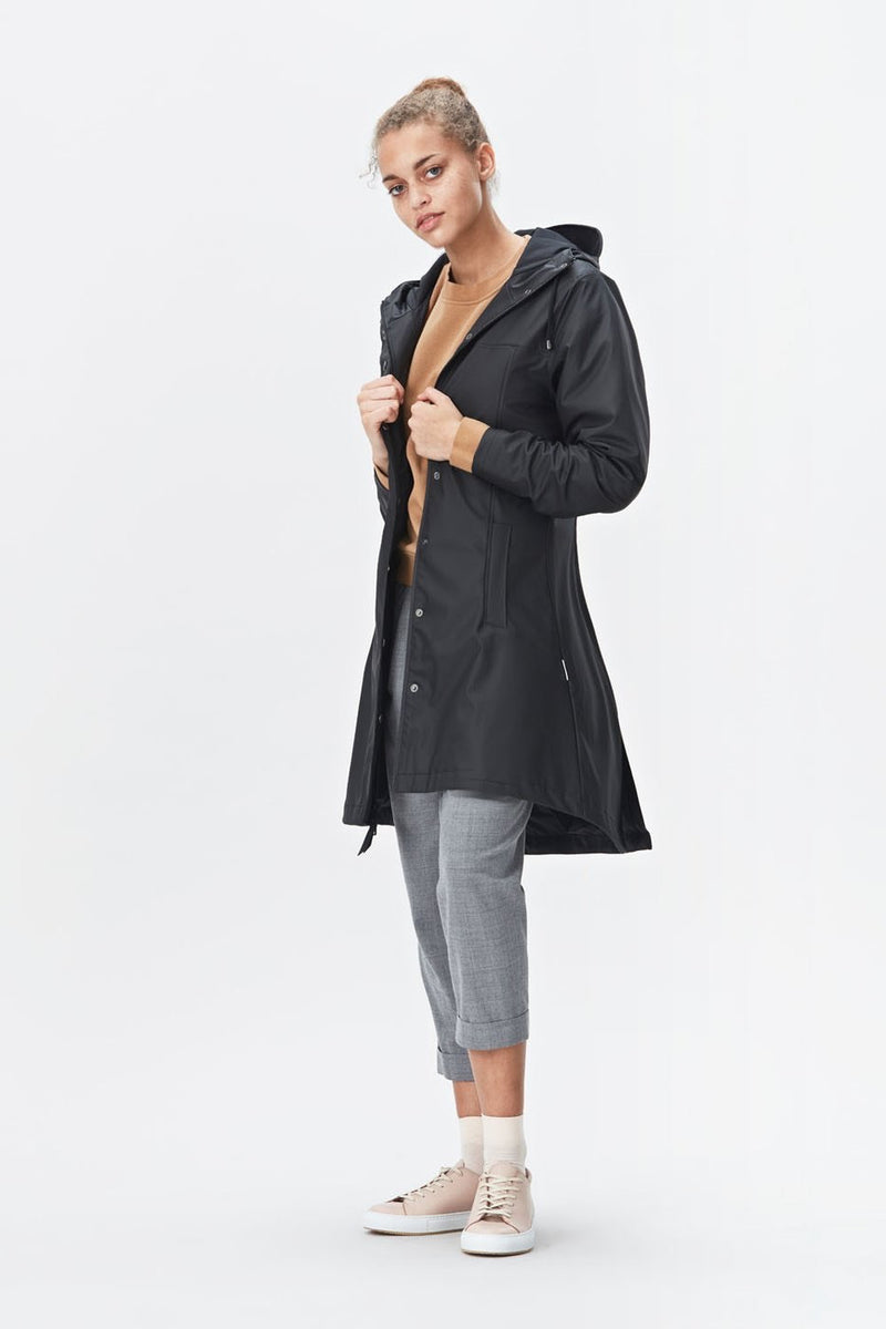 Rains - Firn Jacket - Black - Gals