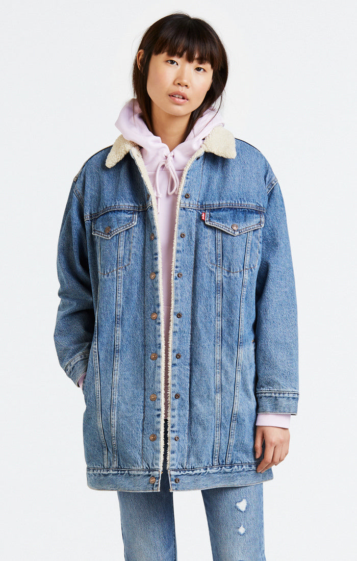 Levi's - Lengthened Sherpa Trucker - Love Shack - Gals
