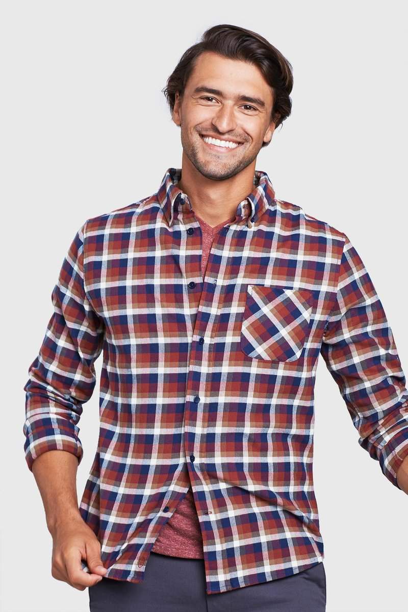 United By Blue - Pitchstone Plaid Shirt - Plum - Guyz
