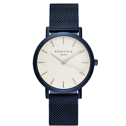 Rosefield - The Mercer - White/Blue - Watch