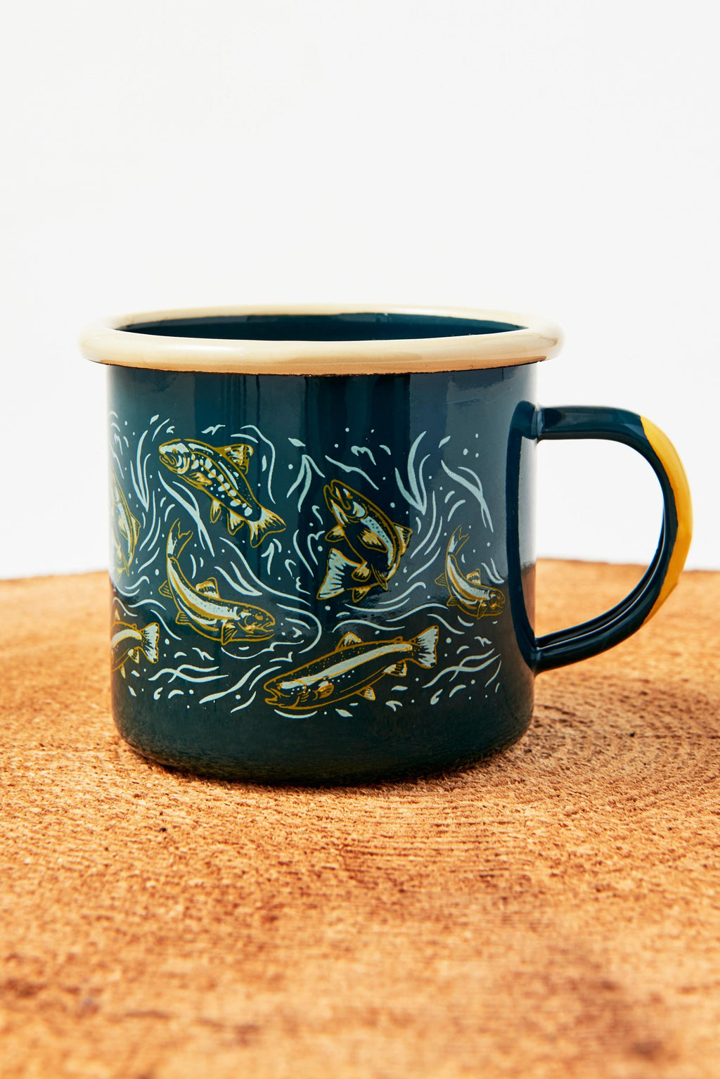 United By Blue -Upstream 12oz Enamel Mug
