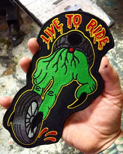 Stuntin - Live To Ride - Patch