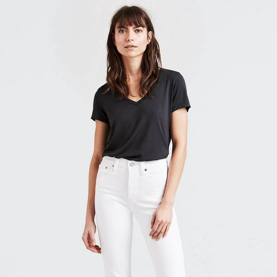 Levi's - Perfect V-Neck - Black - Gals