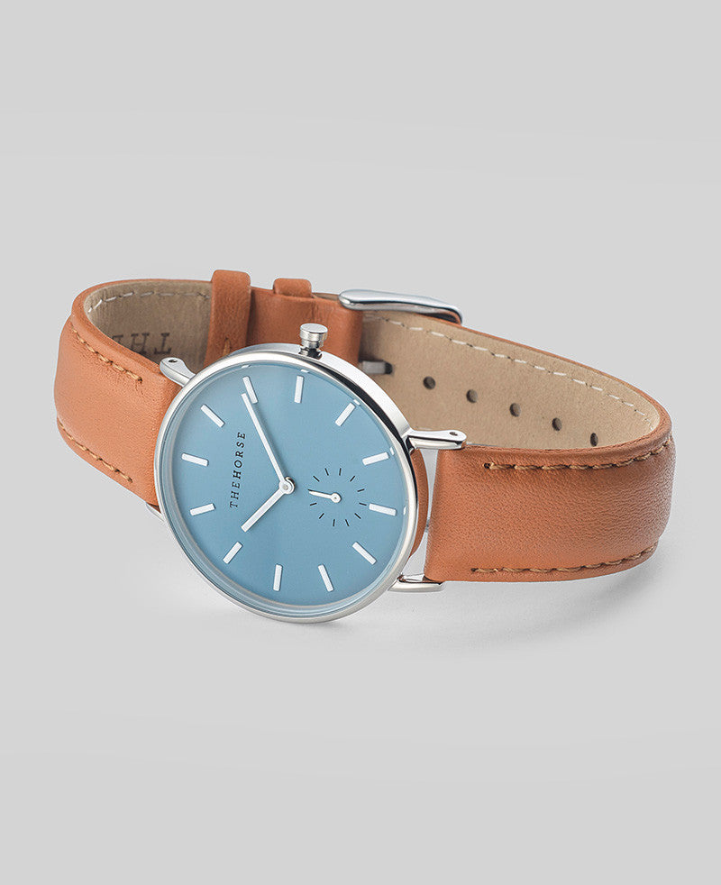 The Horse 'The Classic' - 36mm Sea Salt Blue / Tan Leather