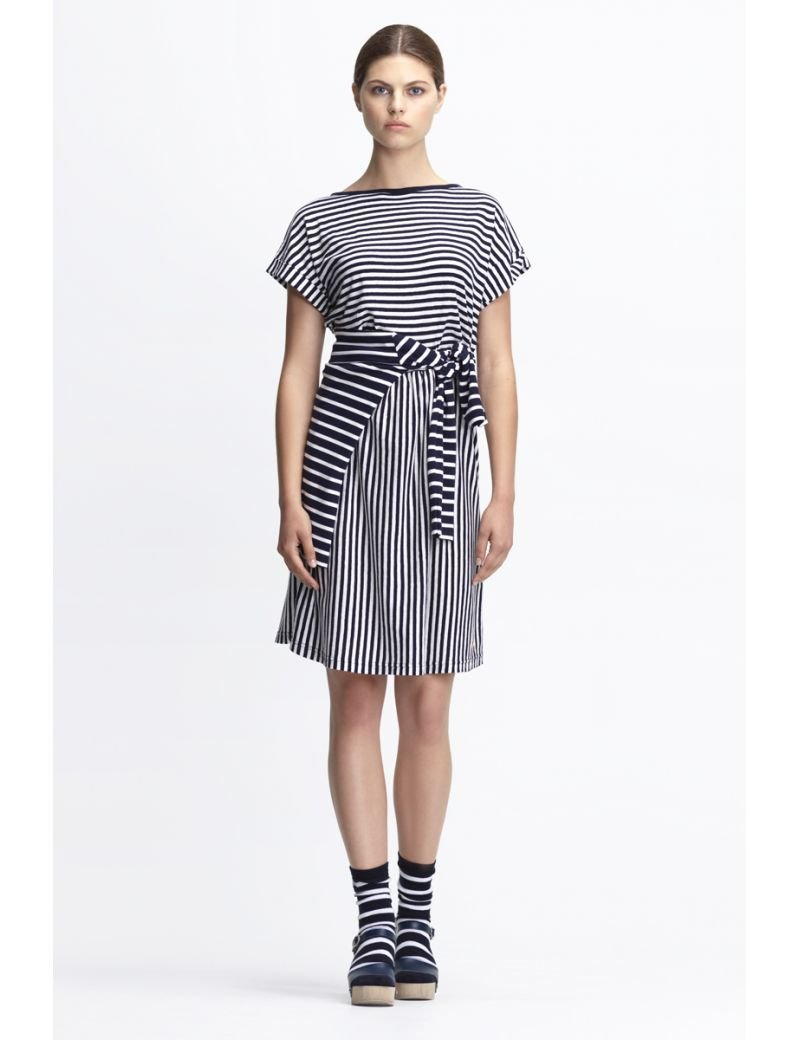 Armor Lux - Short Sleeved Striped Dress Heritage - Gals