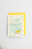 Valley Cruise Press - Hope You're Birthday's Not A Lemon - Enamel Pin + Greeting Card