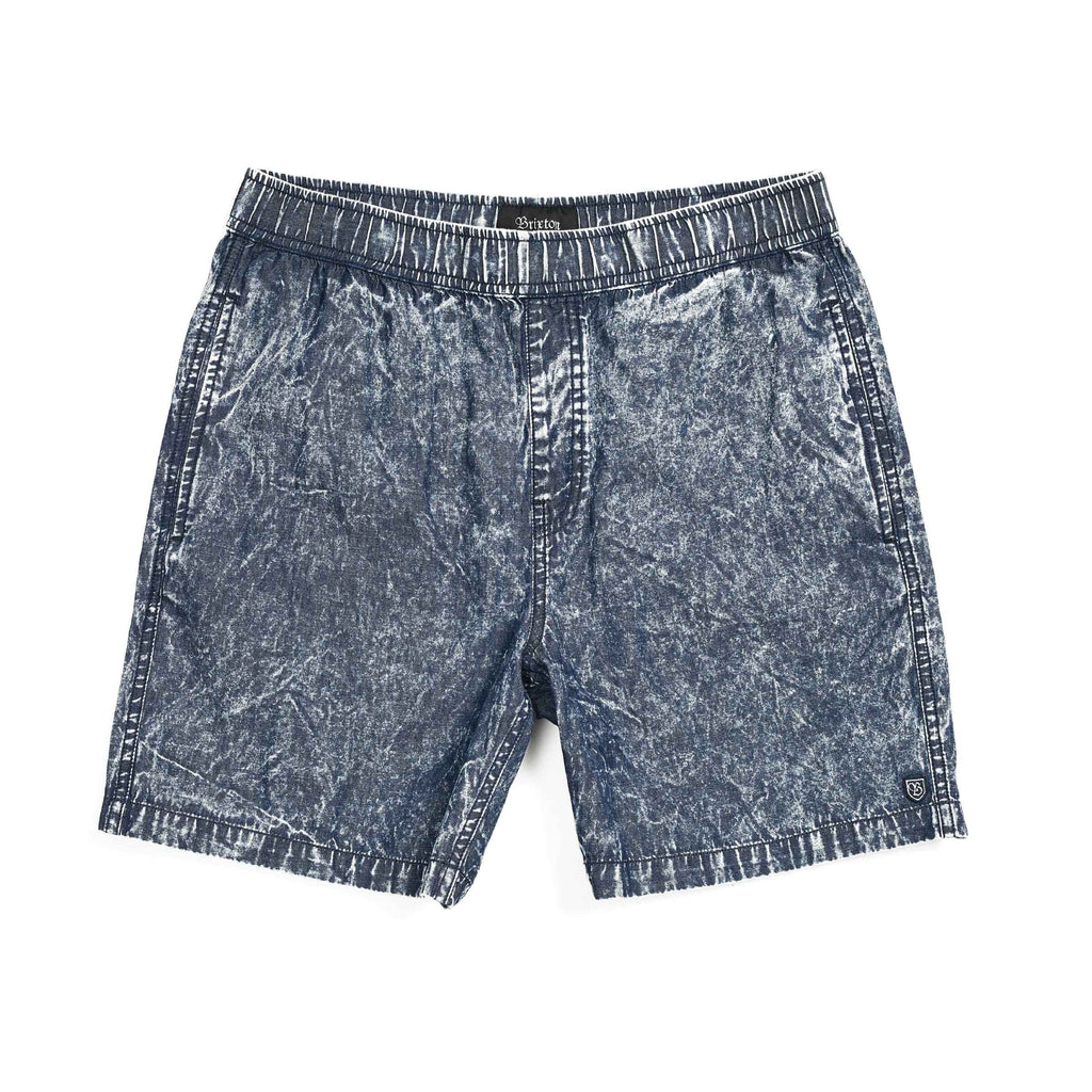 Brixton - Steady Elastic WB Short - Shorts - Navy Acid Wash - Guyz