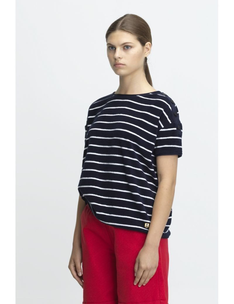Armor Lux - Striped T-Shirt Heritage Boxy - Gals