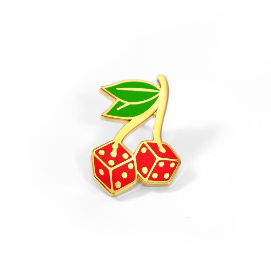 Cherry Dice - Enamel Pin