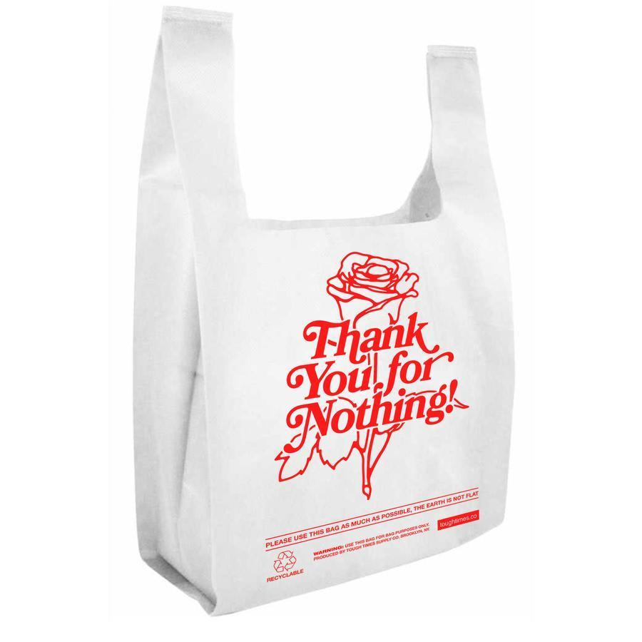 Thank You For Nothing - Grocery Tote - White