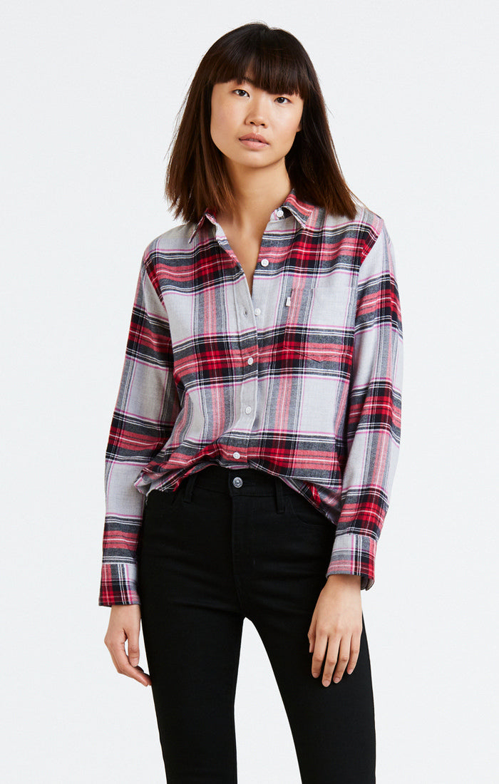 Levi's - Ultimate Boyfriend Shirt - Narwhal Heather - Gals