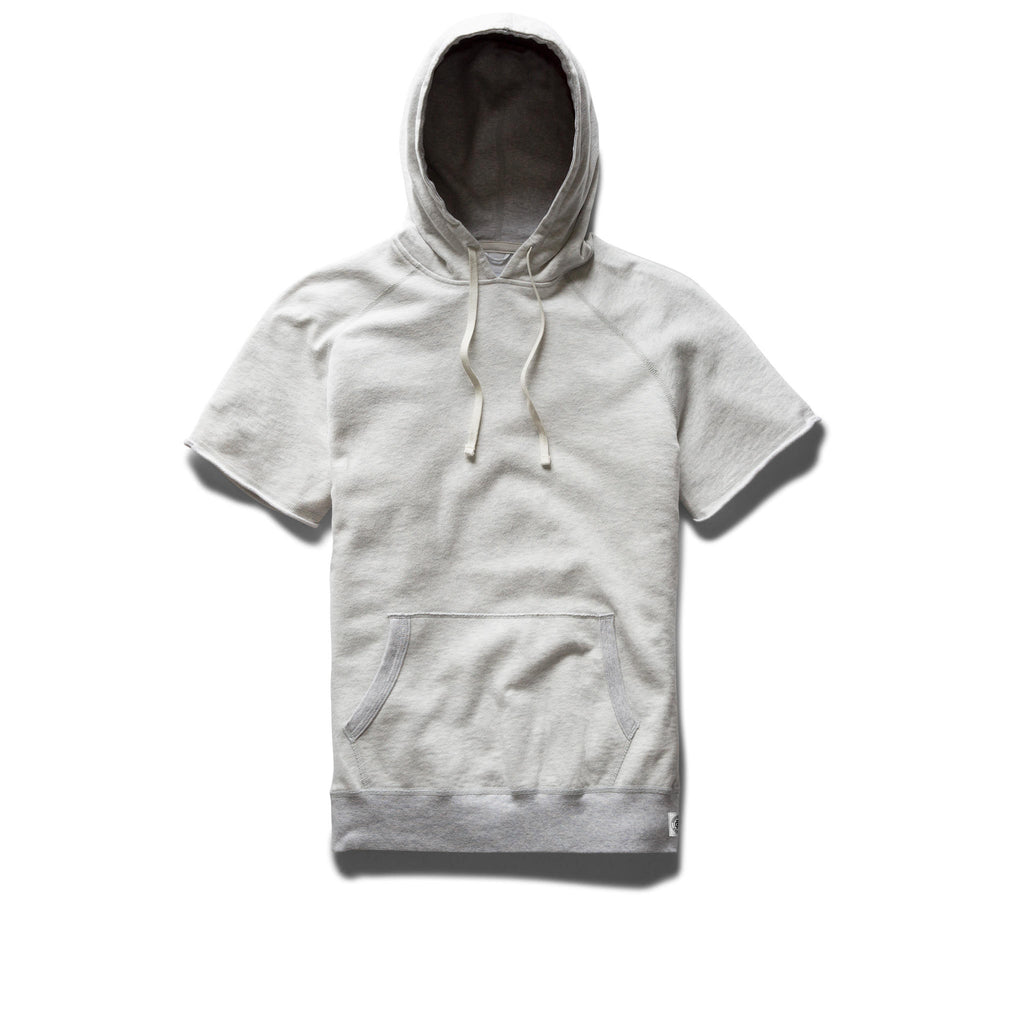 Reigning Champ -Cut Off Hoodie - Heather Ash - Guys