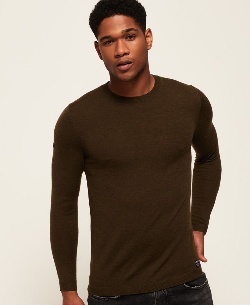 Superdry - Merino Crew - Green - Guys
