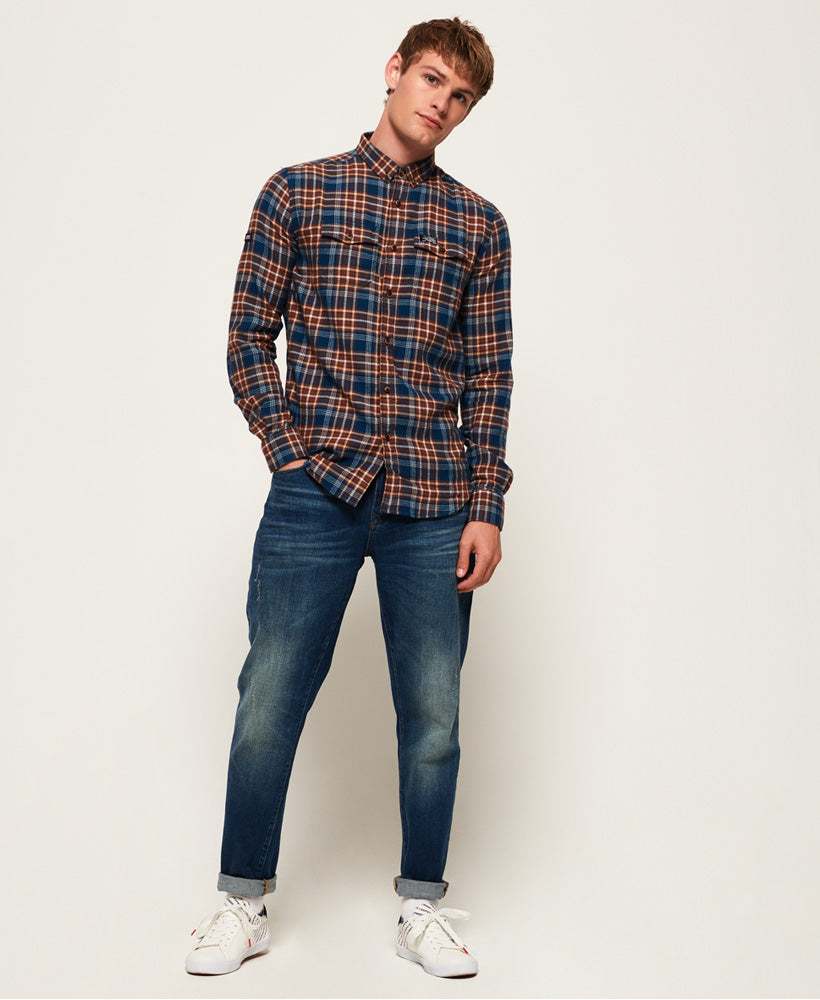 Superdry - Winter Washbasket L/S Shirt - Enfiled Blue Check - Guys