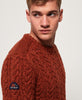 Superdry - Jacob Crew - Burnt Orange - Guys