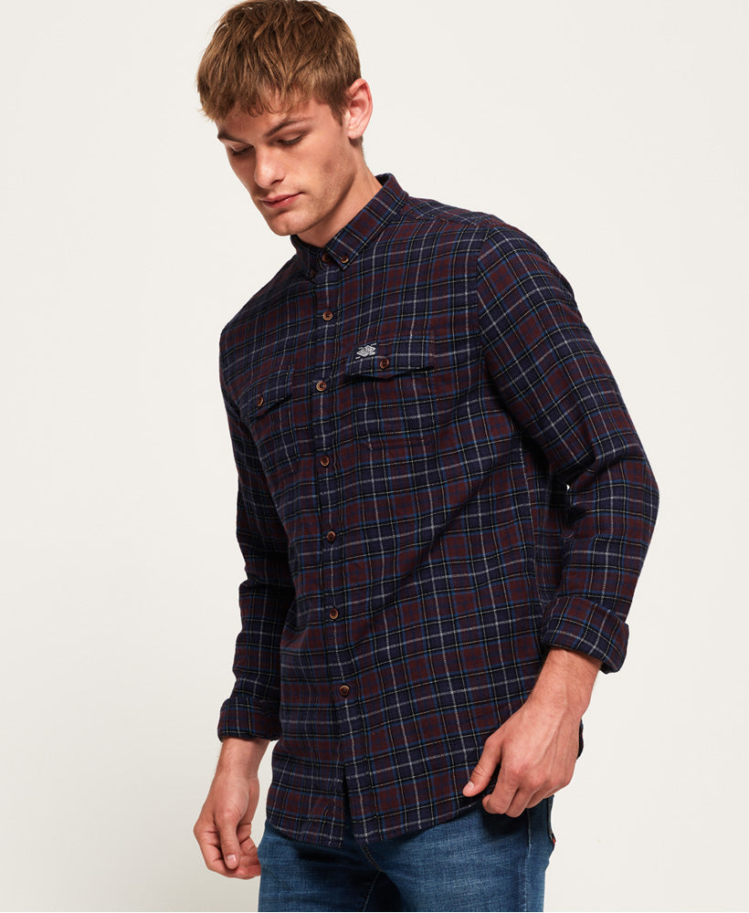 Superdry - Winter Washbasket L/S Shirt - Switch Blade Burgundy Check - Guys