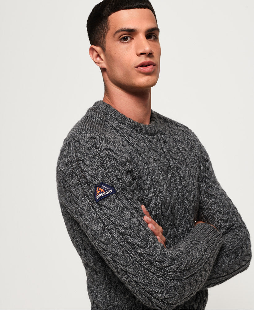 Superdry - Jacob Crew - Graphite Grey - Guys