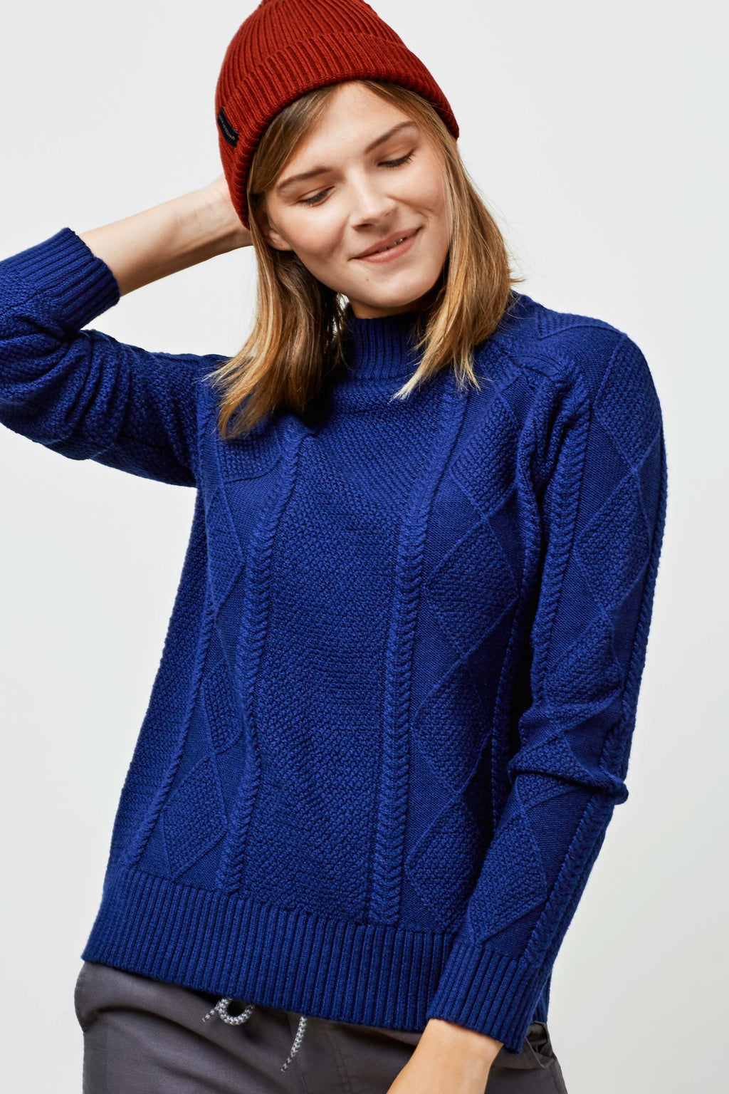 United By Blue - Bray Fisherman Sweater - Navy - Gals