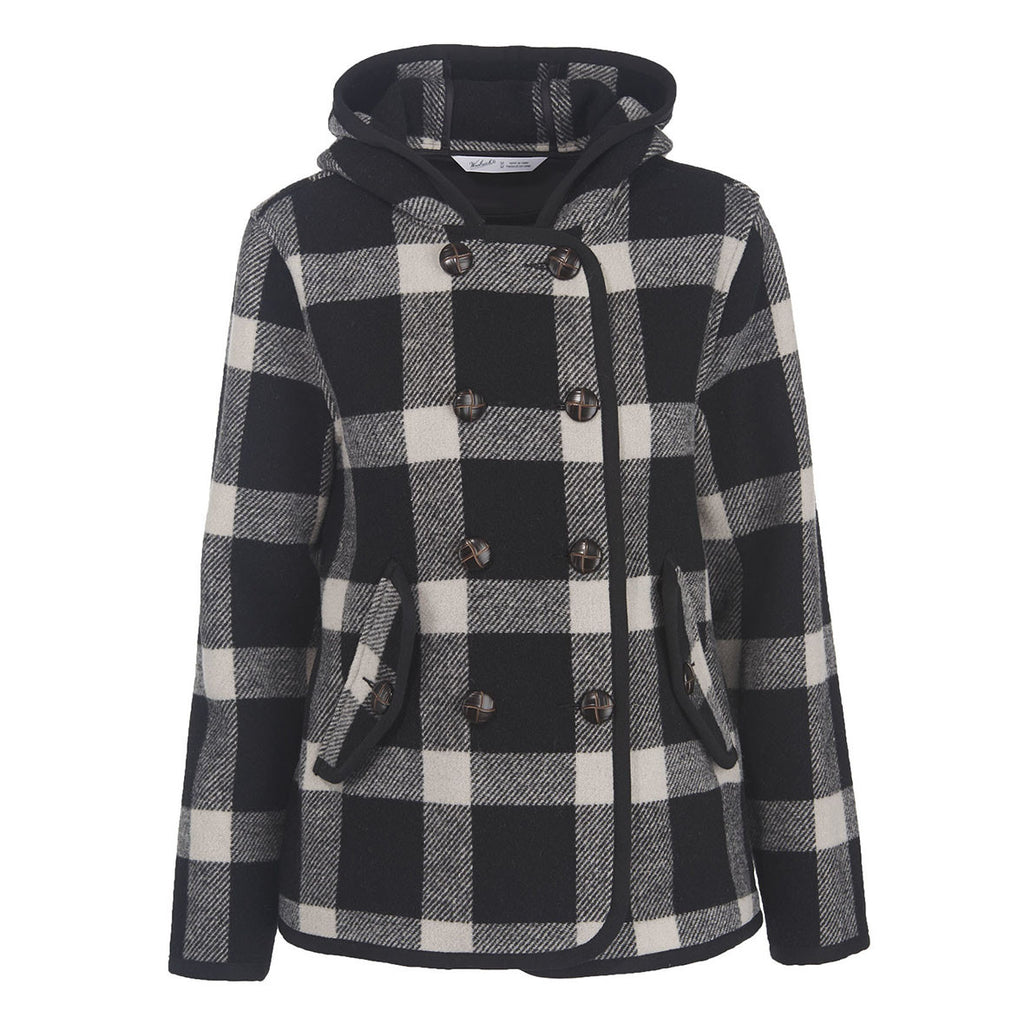 Woolrich - Century Plaid Peacoat - Gals