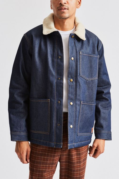 Brixton - Yard Sherpa Denim Jacket - Raw Indigo - Guyz