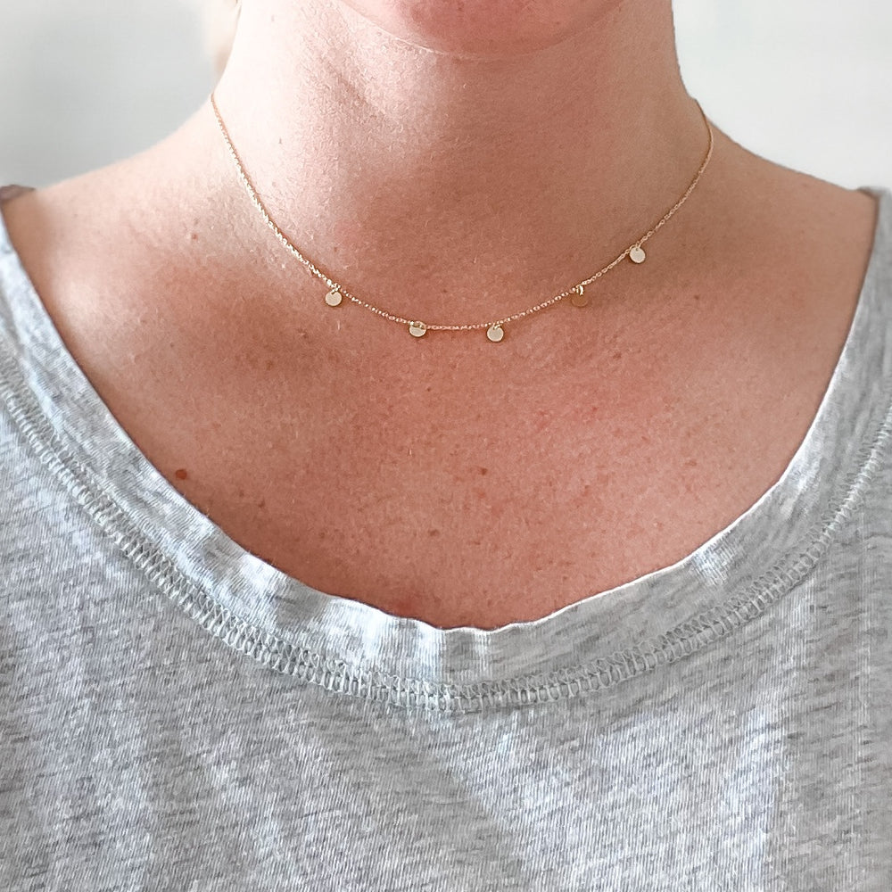 Circle Layering Necklace - Mel & Mae
