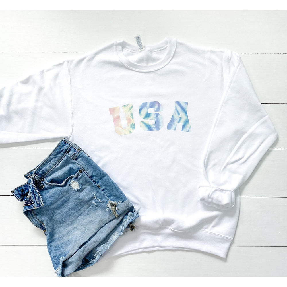Tie Dye USA Graphic Sweatshirt