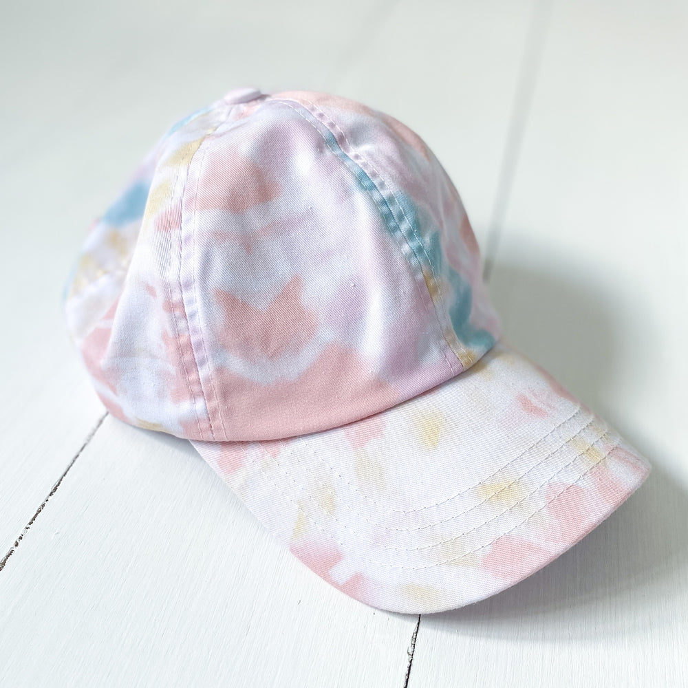 Peach Tie Dye Baseball Hat