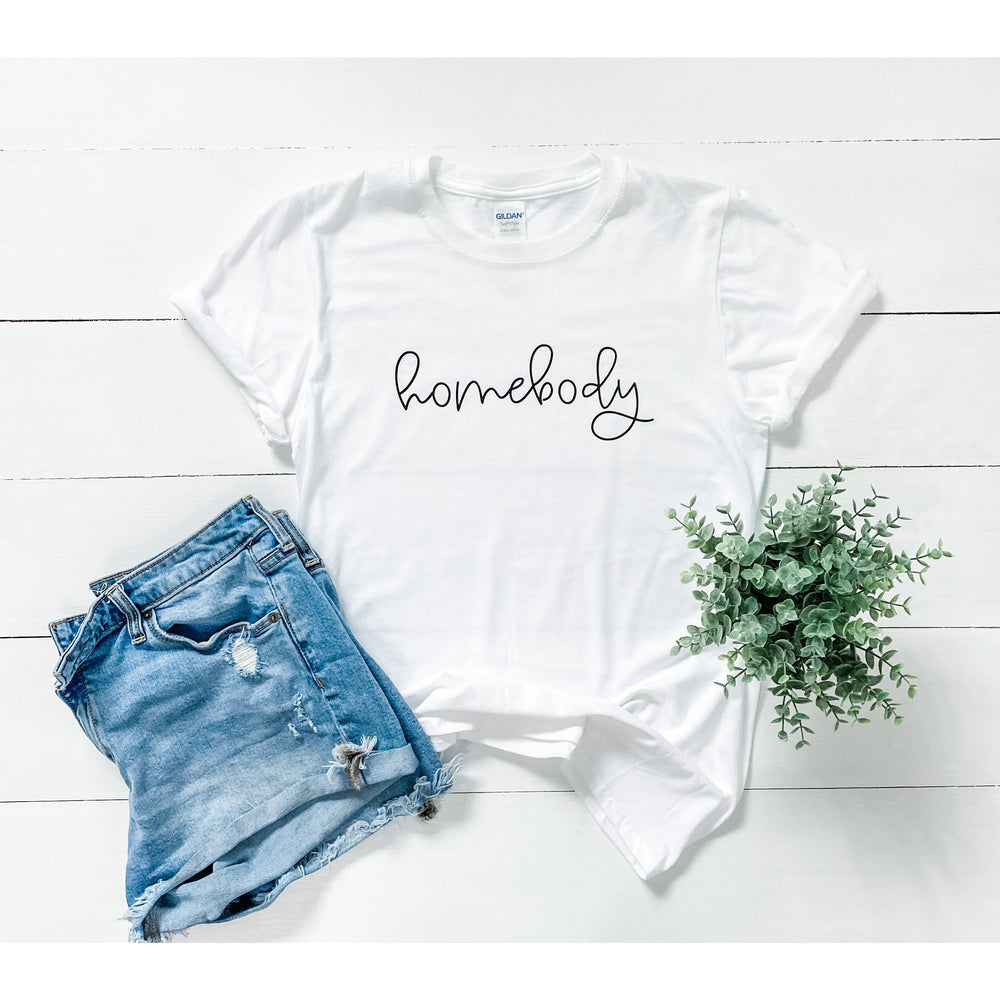 Bubbly Cursive Homebody Graphic Tee