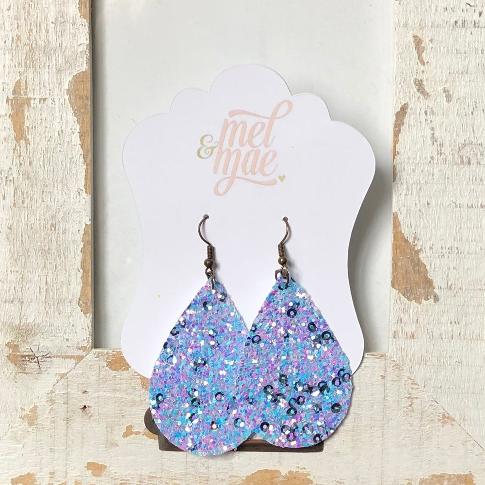 Cotton Candy Glam Teardrop Earrings - Mel & Mae