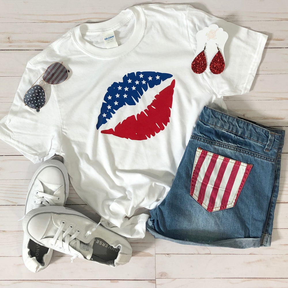 Patriotic Lips Graphic Tee