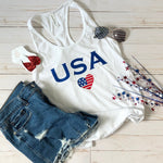 USA Love Graphic Tank