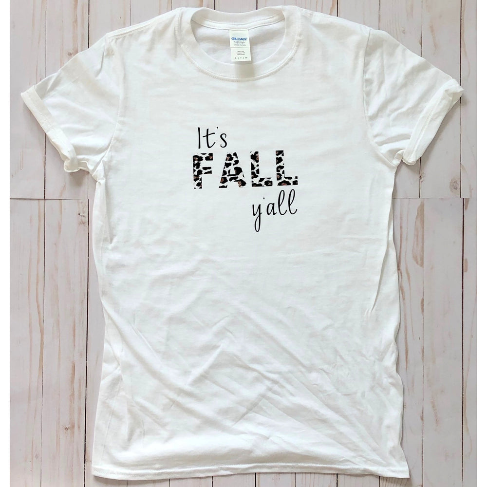 It's Fall Y'all Leopard Graphic Tee - Mel & Mae