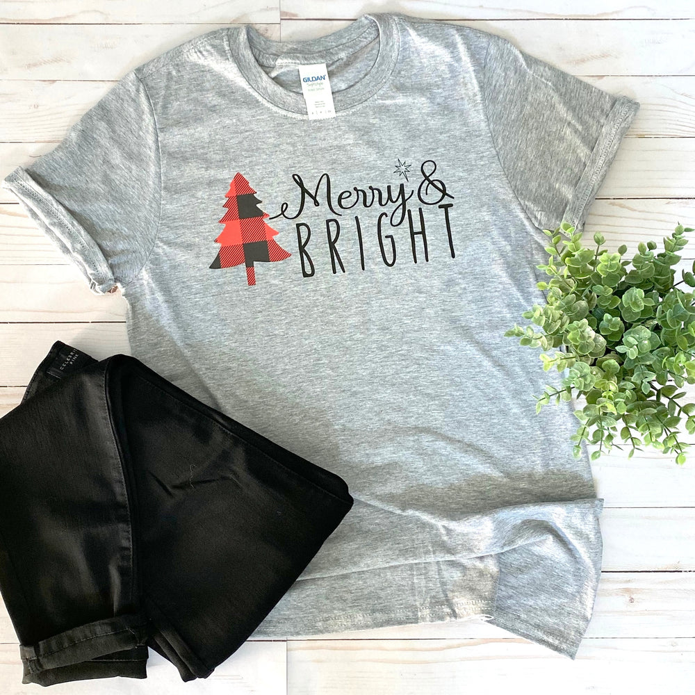 Merry & Bright Graphic Tee - Mel & Mae