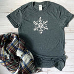Leopard Snowflake Graphic Tee - Mel & Mae