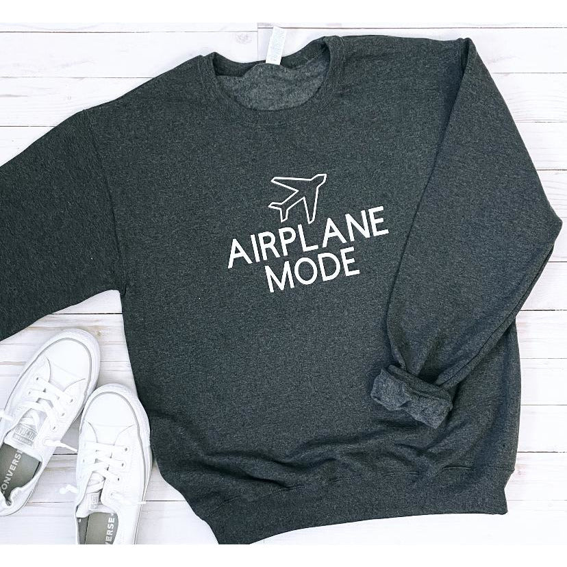 Airplane Mode Sweatshirt in Charcoal Gray
