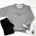 Chips and Salsa Diet Graphic Sweatshirt