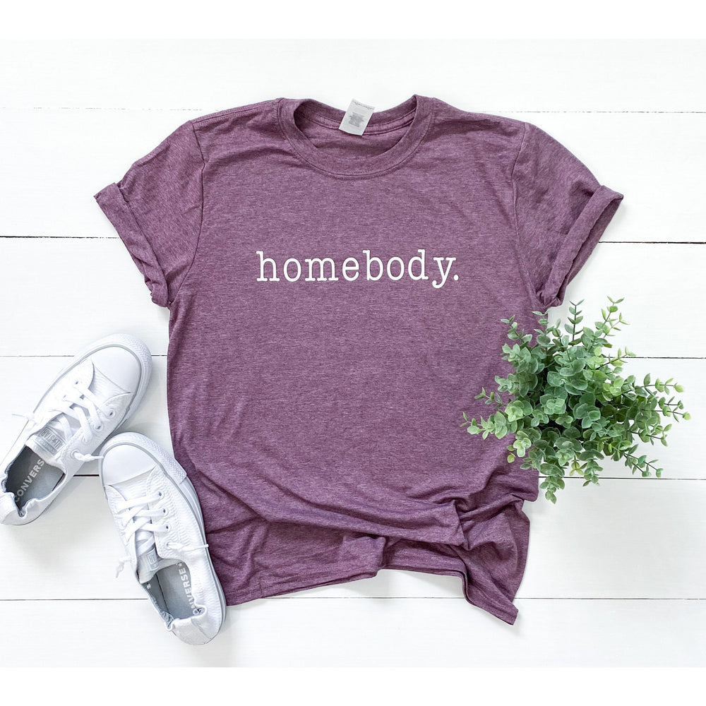 Homebody Typewriter Font Graphic Tee