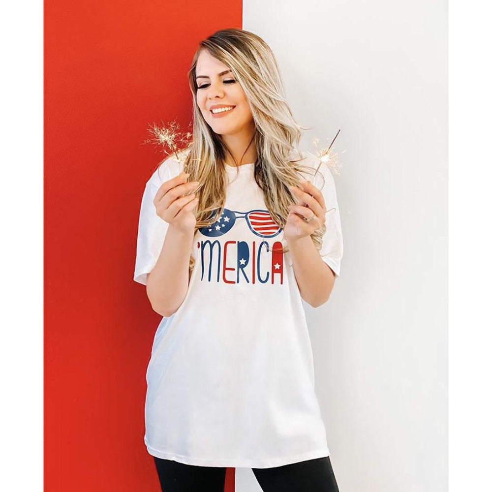 'Merica Sunglasses Graphic Tee